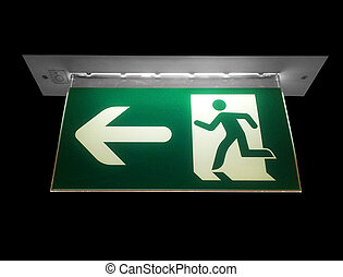 Emergency exit neon sign