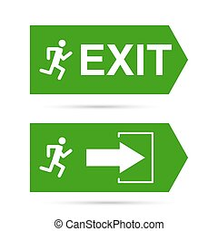 Emergency exit sign.