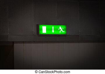 Emergency exit - Stock Image