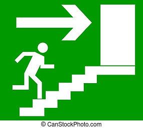 Emergency exit way.