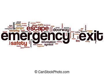 Emergency exit word cloud