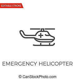 Emergency Helicopter Vector Icon
