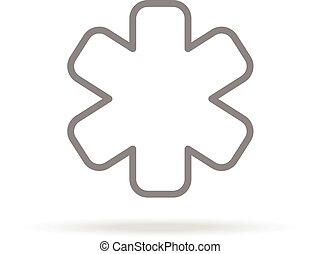 Emergency Icon In Trendy Thin Line Style Isolated On White Background. Medical Symbol For Your Design, Apps, Logo, UI. Vector Illustration.