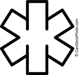 Emergency icon, outline style