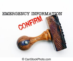 Emergency information - confirm