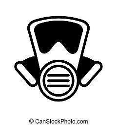 emergency mask on white background