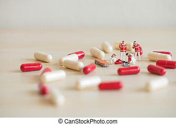 Emergency medical care. Macro photo
