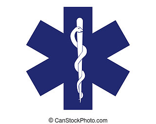 emergency medical symbol blue cross - illustration