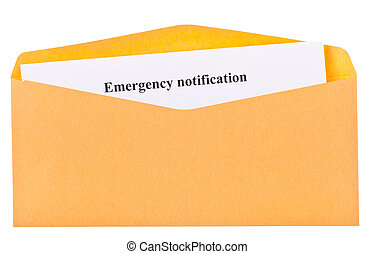 emergency notification