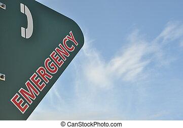 Emergency phone call sign