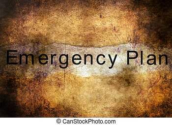 Emergency plan grunge concept