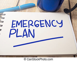 Emergency Plan, Motivational Words Quotes Concept