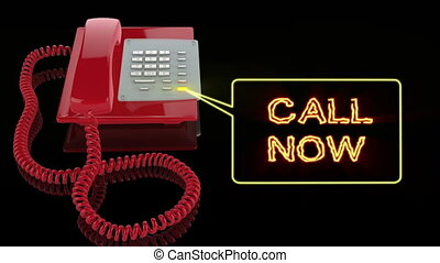 Emergency Red Phone with Call Now