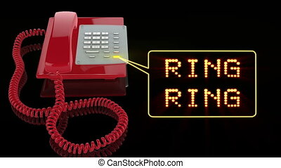 Emergency Red Phone with Ring Ring text