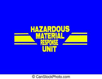 Emergency Response - Photo of a Hazardous Material Response...