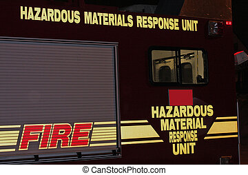 Photo of the side of an emergency response truck.