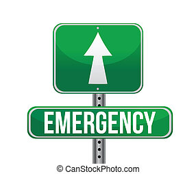 emergency road sign illustration