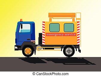 emergency service car