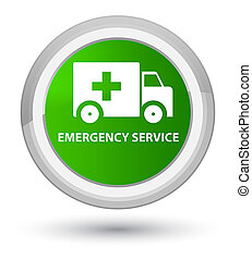 Emergency service prime green round button