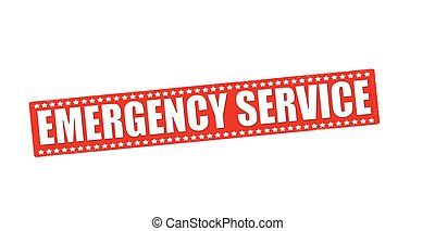 Emergency service - Rubber stamp with text emergency service...