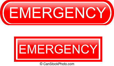 Emergency sign icon