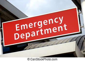 Emergency Sign - View of the emergency sign at the local...