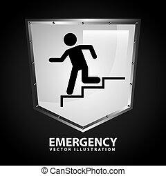 emergency signal design, vector illustration eps10 graphic