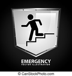 emergency signal design, vector illustration eps10 graphic