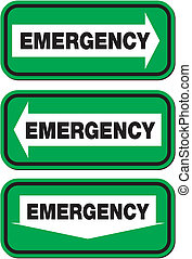 emergency signs - green signs