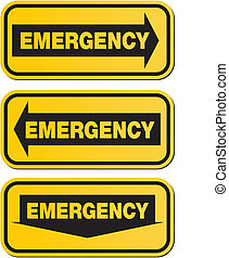 emergency signs - yellow signs