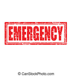 Emergency-stamp - Grunge rubber stamp with word Emergency, ...