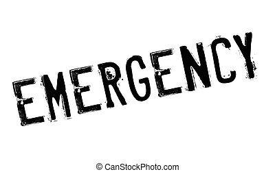 Emergency stamp. Grunge design with dust scratches. Effects can be easily removed for a clean, crisp look. Color is easily changed.