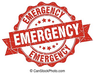 emergency stamp. sign. seal