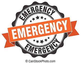 emergency stamp. sign. seal