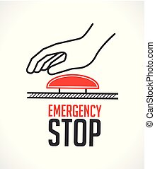 Emergency stop button - concept icon