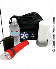,supplies to have in an emergency, over white, good education material