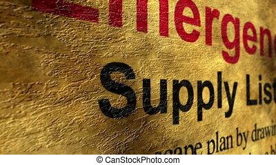 Emergency supply list