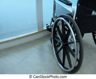 Emergency Wheel Chair - soft focus wheel chair