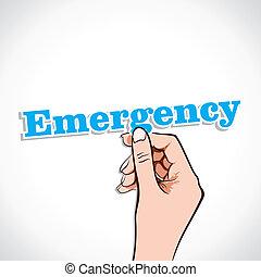 Emergency word in hand