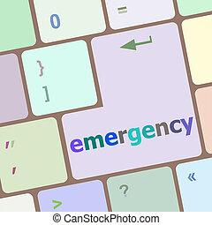 emergency word on keyboard key, notebook computer button