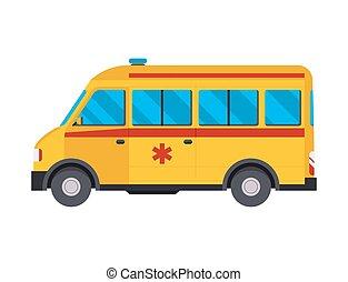 emergenza, automobile, ospedale, ambulanza, illustrazione, farmacia, urgente, vettore, salute, trattamento, veicolo, medicina, paramedic, medico, sostegno, automobile