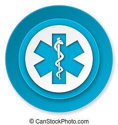 emergenza, icona, ospedale, segno