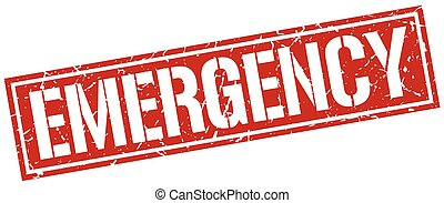 emergenza, quadrato, grunge, francobollo