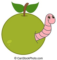 emergere, mela, verme