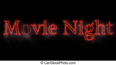 Emerging red Movie Night neon billboard 4k - Animation of ...