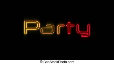 Emerging yellow and red Party neon billboard 4k - Animation ...