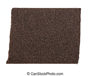 Emery paper - sandpaper isolated on white