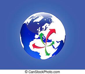 emigração, de, líbia