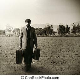 emigrant, maletas