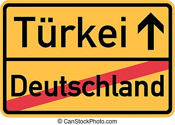 Emigration from Germany to Turkey - german sign